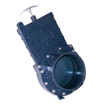 Absperrschieber DN 160 mm Eco (Zugschieber) mit Dichtung für KG, HT und PVC Rohre aus Kunststoff