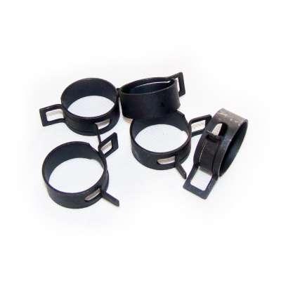 Federschellen W1 im 5 Stück Set für 26-34 mm Durchmesser schwarz beschichtet