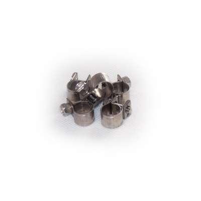 Mini Schlauchschelle 9-11 mm W4 Edelstahl rundziehend 9mm breit als 5 Stück Set