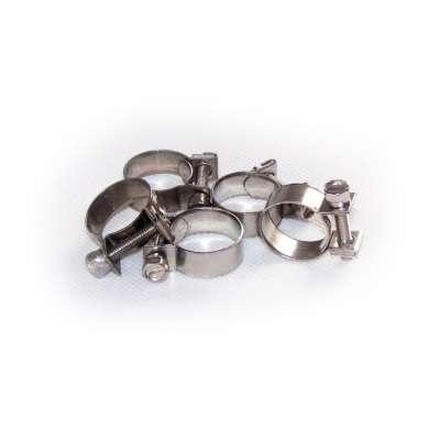 Mini Schlauchschelle 17-19 mm W4 Edelstahl (z.B. V2A oder V4A) rundziehend 9mm breit als 5 Stück Set