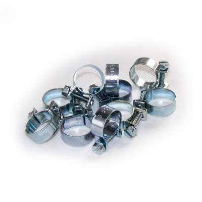 Mini Schlauchschelle (Spannbackenschelle) 18-20 mm W1 rundziehend 9mm breit als 10 Stück Sortiment