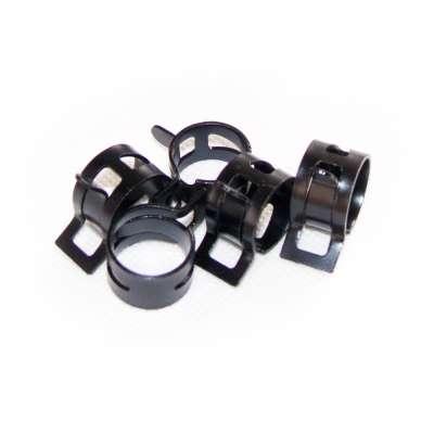 Federschellen W1 im 5 Stück Set für 16-22 mm Durchmesser schwarz beschichtet