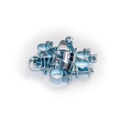 Mini Schlauchschelle klein (Spannbackenschelle) 11-13 mm W1 rundziehend 9mm breit als 10 Stück Set