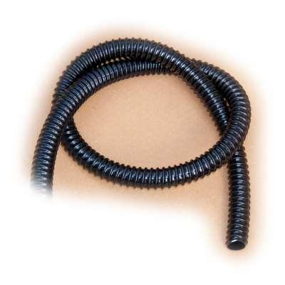 Spiralschlauch in schwarz von Rehau mit 32mm (1 1/4 Zoll) Innendurchmesser und UV-beständig als Meterware