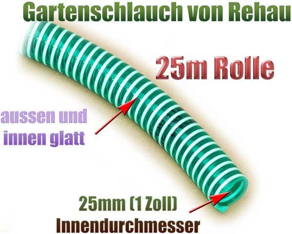 gartenschlauch-flexibel-25mm-1-zoll-25m-rolle-rehau-gruen-transparent-knickfrei-spirale-pumpe-1