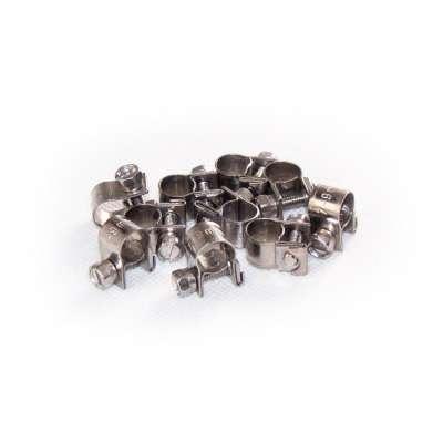 Mini Schlauchschelle 7-9 mm W4 Edelstahl rostfrei rundziehend 9mm breit als 10 Stück Set