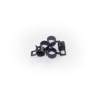 Federschellen W1 im 5 Stück Set für 7,6-8,3 mm Durchmesser schwarz beschichtet