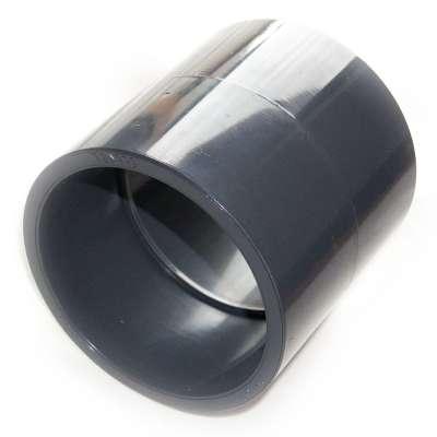Muffe, Klebemuffe, Muffenrohr 110 mm Innendurchmesser (viereinviertelzoll, 4 1/4 Zoll) beidseitig für HT und KG Rohr aus PVC Kunststoff
