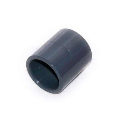 Muffe, Klebemuffe, Muffenrohr 40 mm Innendurchmesser (eineinhalbzoll, 1 1/2 Zoll) beidseitig Rohrverbindungen Fittings PVC Kunststoff