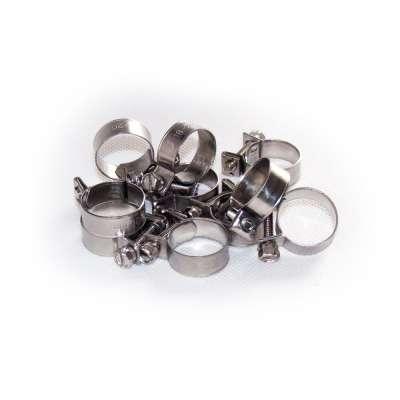Mini Schlauchschelle 18-20 mm W4 Edelstahl rostfrei rundziehend 9mm breit als 10 Stück Sortiment