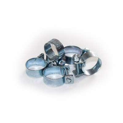 Mini Schlauchschelle (Spannbackenschelle) 17-19 mm W1 rundziehend 9mm breit als 5 Stück Set