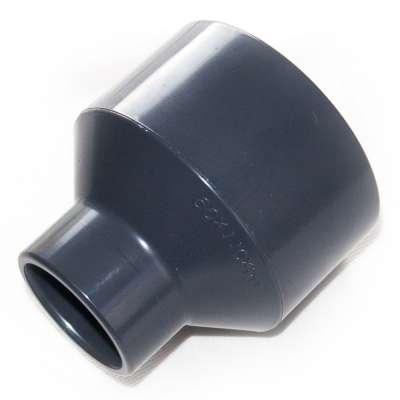 Muffe, Klebemuffe, Muffenrohr 50 x 90 x 110 mm Durchmesser Reduziermuffe Adapter Verbinder Reduzierung Rohrverbindung ohne schweissen PVC Kunststoff