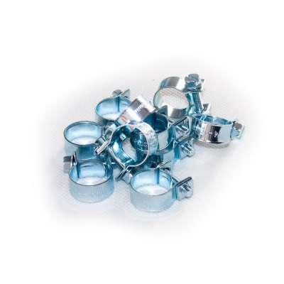 Mini Schlauchschelle klein (Spannbackenschelle) 14-16 mm W1 rundziehend 9mm breit als 10 Stück Sortiment