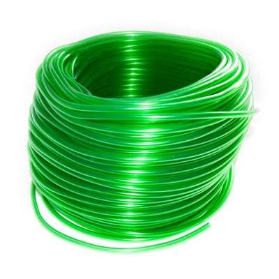 Luftschlauch 4mm PVC als 100m Rolle transparent grün für Aquarium, Auto, Motorrad und Werkstatt
