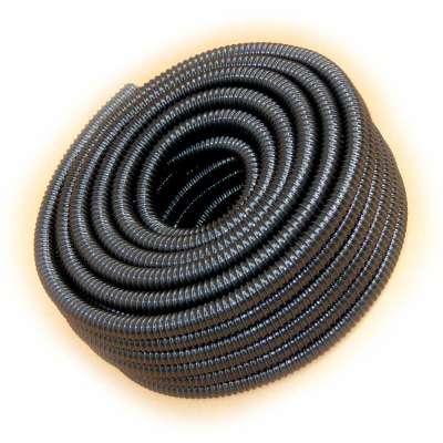 Spiralschlauch 25m Rolle in schwarz von Rehau mit 40mm (1 1/2 Zoll) Innendurchmesser und UV-beständig