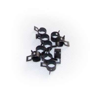 Federschellen W1 im 10 Stück Set für 7,6-8,3 mm Durchmesser schwarz beschichtet als Sortiment