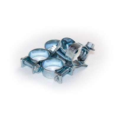 Mini Schlauchschelle (Spannbackenschelle) 16-18 mm W1 rundziehend 9mm breit als 5 Stück Set