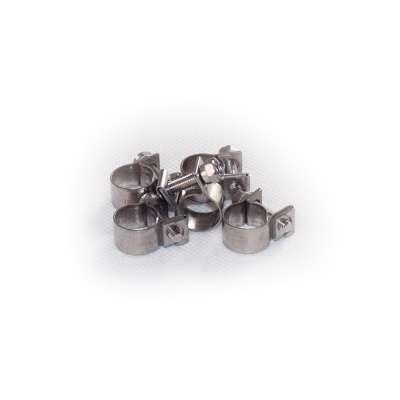 Mini Schlauchschelle 10-12 mm W4 Edelstahl rundziehend 9mm breit als 5 Stück Set