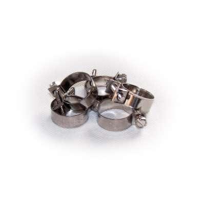 Mini Schlauchschelle 19-21 mm W4 Edelstahl (z.B. V2A oder V4A) rundziehend 9mm breit als 5 Stück Set