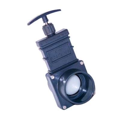 Absperrschieber DN 63 mm Eco (Zugschieber) für KG, HT und PVC Rohre aus Kunststoff