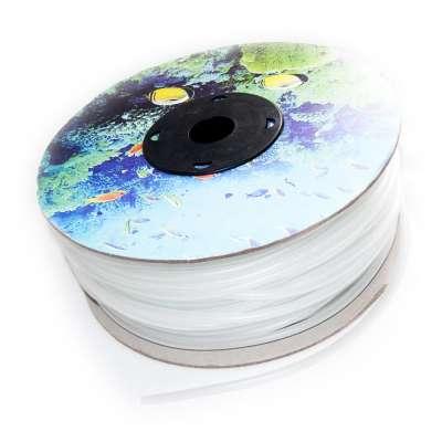 Luftschlauch 4mm flexibel PVC Gummi als 100m Rolle transparent weiss für Aquarium und Werkstatt