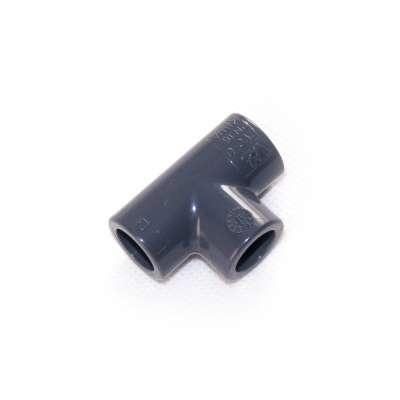 VDL T-Stück 12 mm 90 Grad aus PVC-U Kunststoff als Verteiler für PVC Fittings bzw. Anschluss