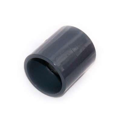Muffe, Klebemuffe, Muffenrohr 50 mm Innendurchmesser (zweizoll, 2 Zoll) beidseitig Rohrverbindung ohne schweissen PVC Kunststoff