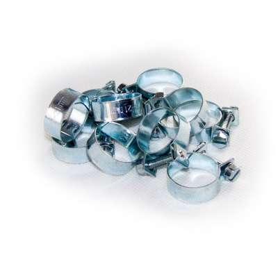 Mini Schlauchschelle (Spannbackenschelle) 19-21 mm W1 rundziehend 9mm breit als 10 Stück Sortiment