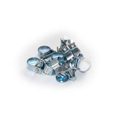 Mini Schlauchschelle klein (Spannbackenschelle) 12-14 mm W1 rundziehend 9mm breit als 10 Stück Set