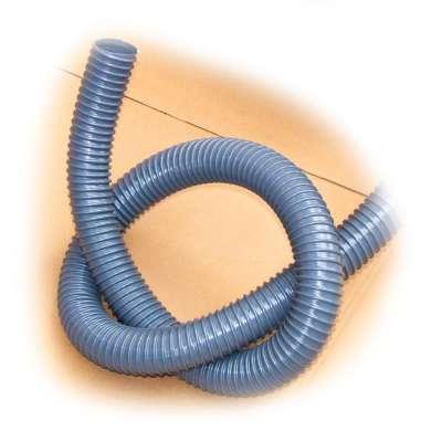 Spiralschlauch in grau von Rehau mit 50mm (2 Zoll) Innendurchmesser und UV-beständig als Meterware