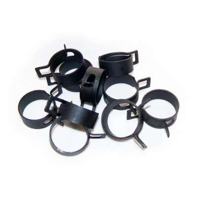 Federschellen W1 im 10 Stück Set für 26-34 mm Durchmesser schwarz beschichtet ohne Zange