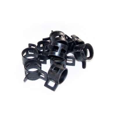 Federschellen W1 im 10 Stück Set für 14-17 mm Durchmesser schwarz beschichtet als Sortiment