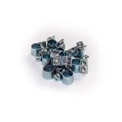 Mini Schlauchschelle klein (Spannbackenschelle) 7-9 mm W1 rundziehend 9mm breit als 10 Stück Set