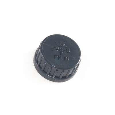 Verschlusskappe mit Dichtung und G 1 Zoll Innengewinde aus PVC-U Kunststoff von VDL