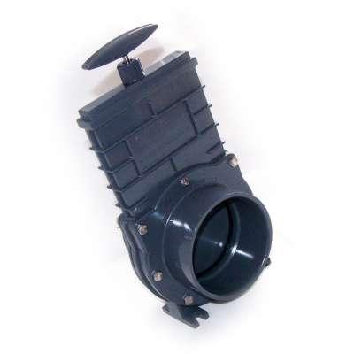 Absperrschieber DN 110 mm Valterra (Zugschieber) für KG, HT und PVC Rohre aus Kunststoff