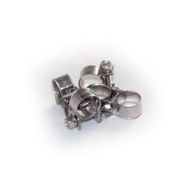Mini Schlauchschelle 12-14 mm W4 Edelstahl rundziehend 9mm breit als 5 Stück Set