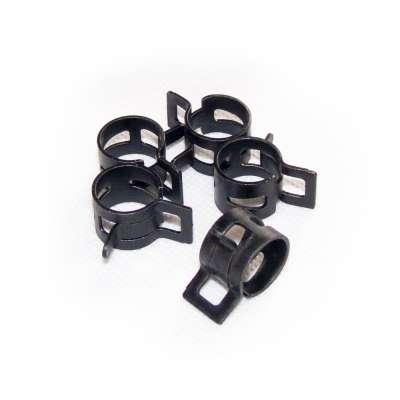 Federschellen W1 im 5 Stück Set für 14-17 mm Durchmesser schwarz beschichtet