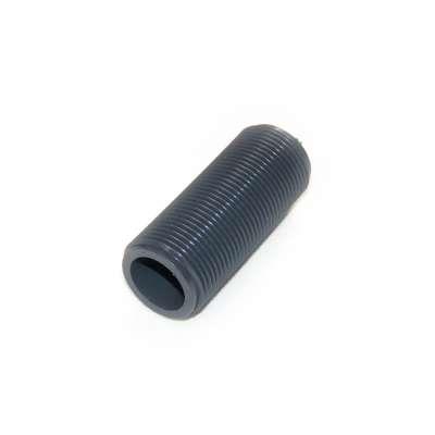 Gewinderohr hohl mit G 1 Zoll Gewinde aussen und 80 mm Länge aus PVC Kunststoff Plastik als Gewindehülse