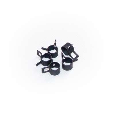 Federschellen W1 im 5 Stück Set für 6-7,3 mm Durchmesser schwarz beschichtet