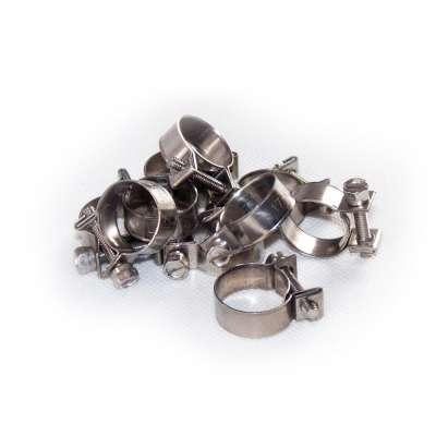 Mini Schlauchschelle 17-19 mm W4 Edelstahl rostfrei rundziehend 9mm breit als 10 Stück Sortiment