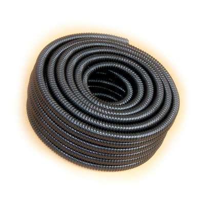 Spiralschlauch in schwarz von Rehau mit 19, 20mm (3/4 Zoll) Innendurchmesser und uv-beständig als 25m Rolle