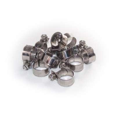 Mini Schlauchschelle 14-16 mm W4 Edelstahl rostfrei rundziehend 9mm breit als 10 Stück Sortiment