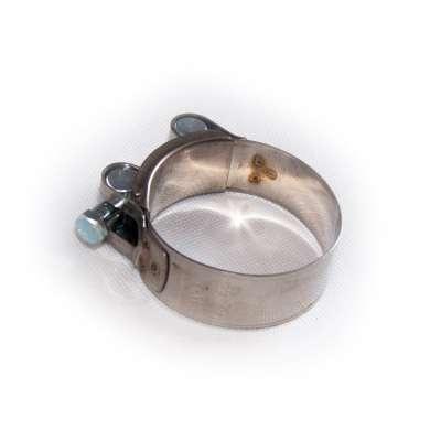 Gelenkbolzenschelle einteilig (Bolzen-Schlauchschelle) mit 56-59 mm Spannbereich in W2 Edelstahl rundziehend günstig online kaufen