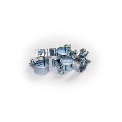 Mini Schlauchschelle (Spannbackenschelle) 13-15 mm W1 rundziehend 9mm breit als 5 Stück Set