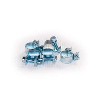 Mini Schlauchschelle (Spannbackenschelle) 11-13 mm W1 rundziehend 9mm breit als 5 Stück Set