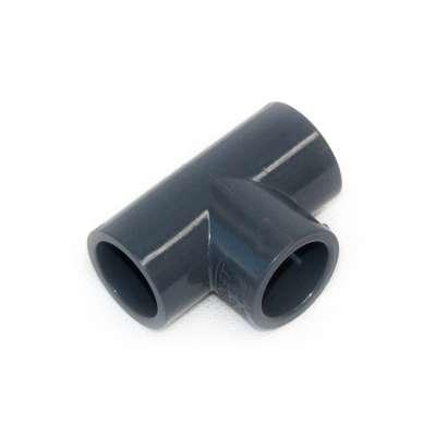 T-Stück 20 mm 90 Grad aus PVC-U Kunststoff als Verteiler für PVC Fittings bzw. Anschluss