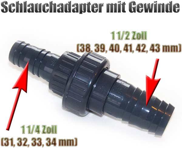schlauchadapter-gewinde-38-39-40-41-42-43-mm-auf-31-32-33-34-mm-1-1-2-zoll-auf-1-1-4-zoll-pvc-1