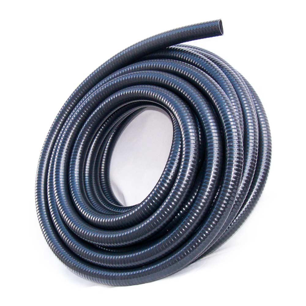 Super Saugschlauch 40mm (1 1/2 Zoll) glatt flexibel schwarz Rehau PVC SG19