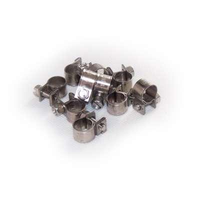 Mini Schlauchschelle 9-11 mm W4 Edelstahl rostfrei rundziehend 9mm breit als 10 Stück Set