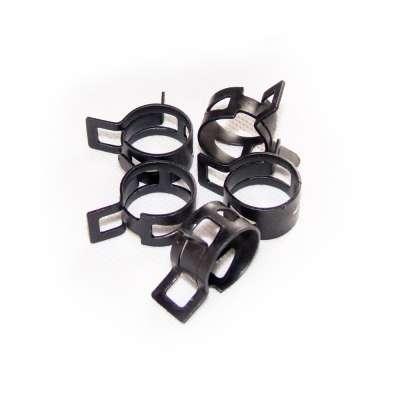 Federschellen W1 im 5 Stück Set für 18-24 mm Durchmesser schwarz beschichtet